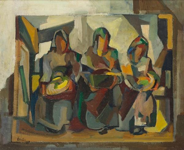 1948-3-Three-Figures-Holding-Bowls-Trois-personnages-portant-des-boules