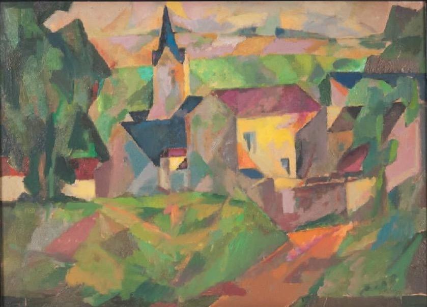1950-7-Village-scene-Scene-de-village