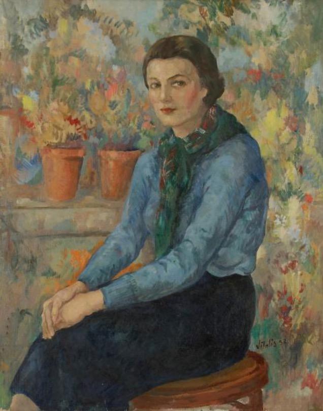 1952-1-Portrait-de-femme-assise