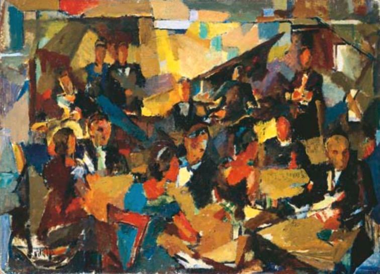 1953-4-In-a-restaurant